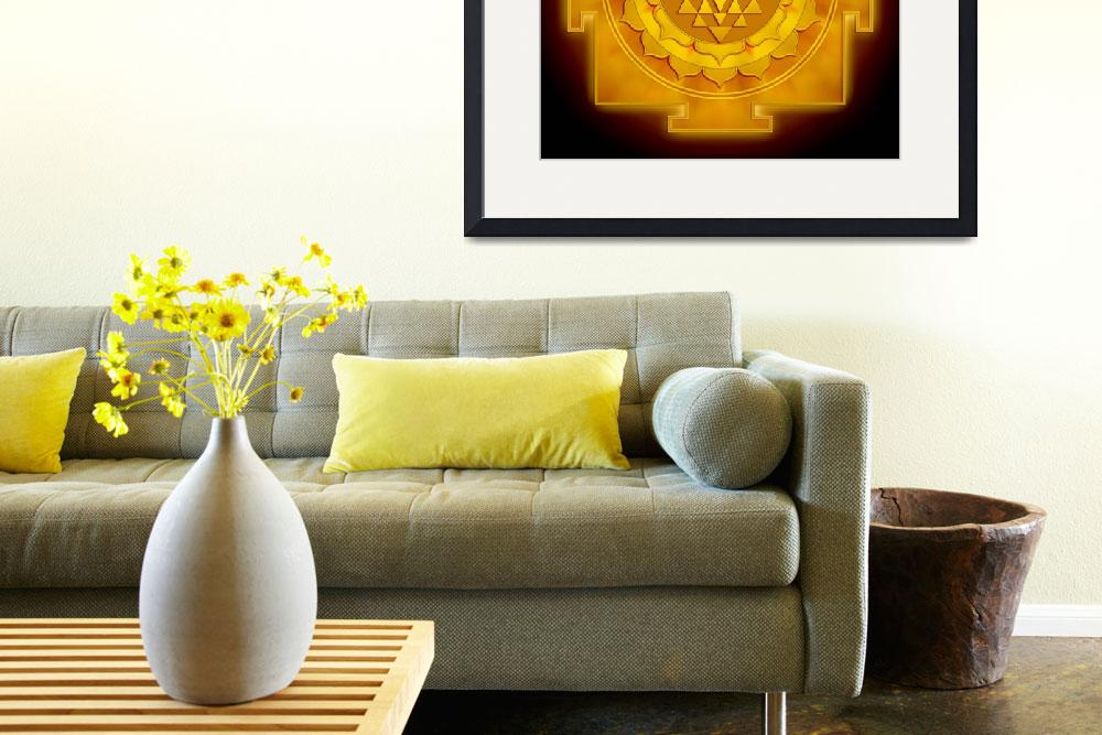 """Golden Sri Yantra - Artwork 1&quot  by dcz"