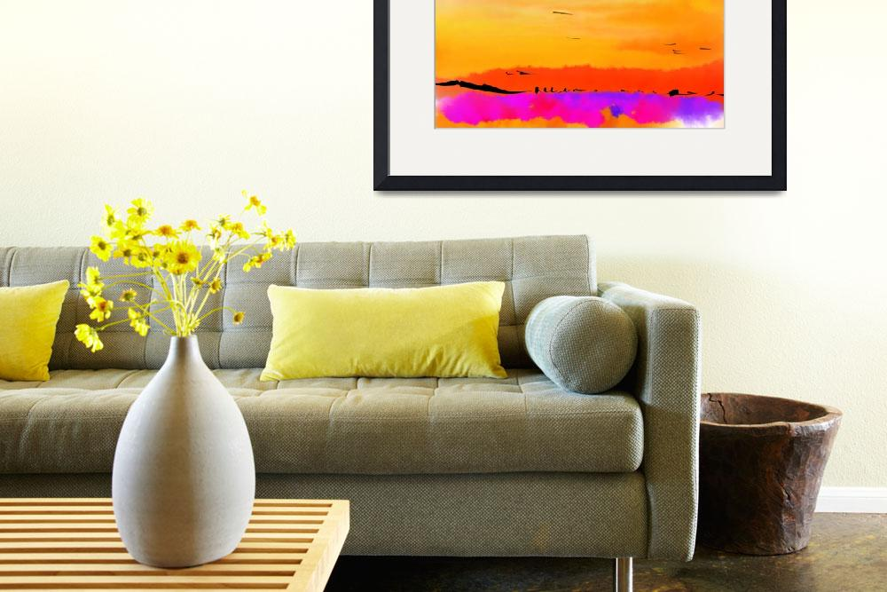 """Orange Abstract Sunset&quot  (2009) by Kirtdtisdale"