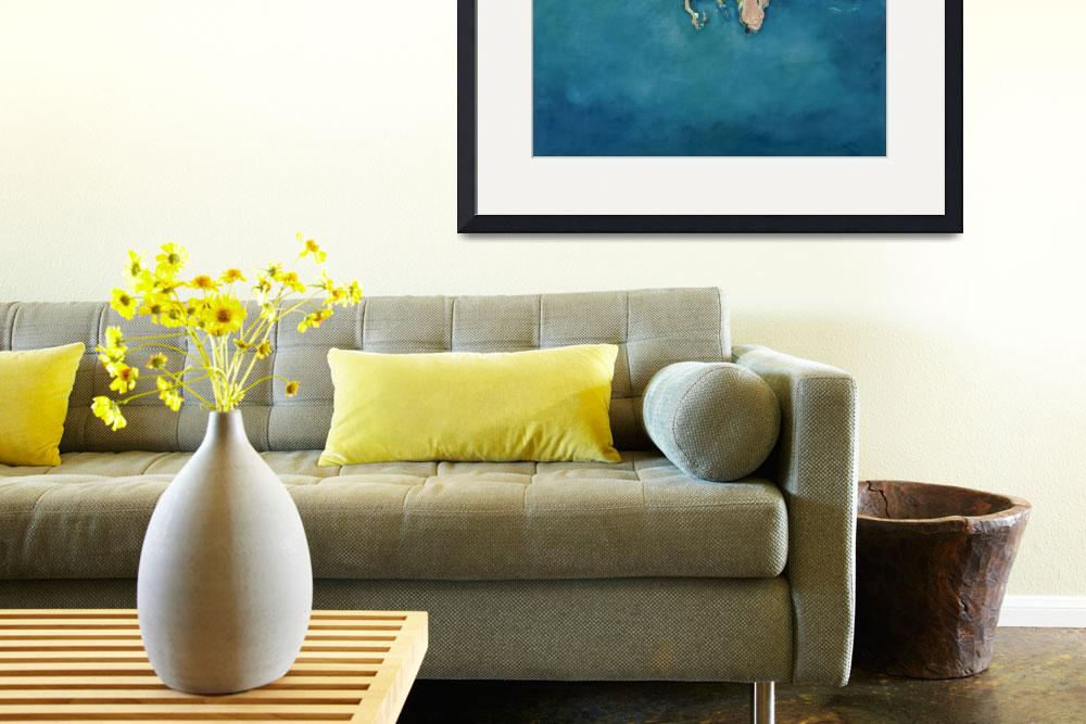 """Swimmer in Yellow by Gareth Lloyd Ball&quot  by fineartmasters"