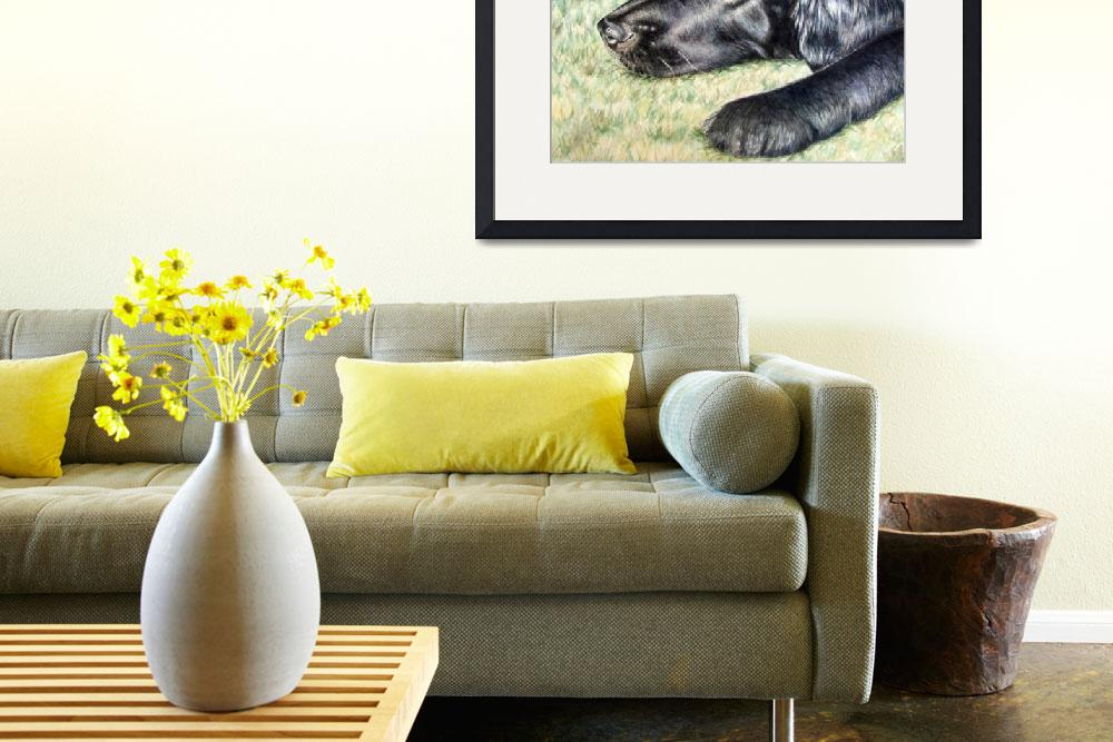 """Flat Coated Retriever&quot  by ArtsandDogs"