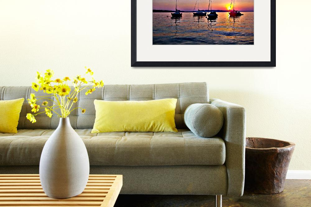 """Warm Goodbye (Painting Photo Illustration)&quot  by SailingArtGifts"
