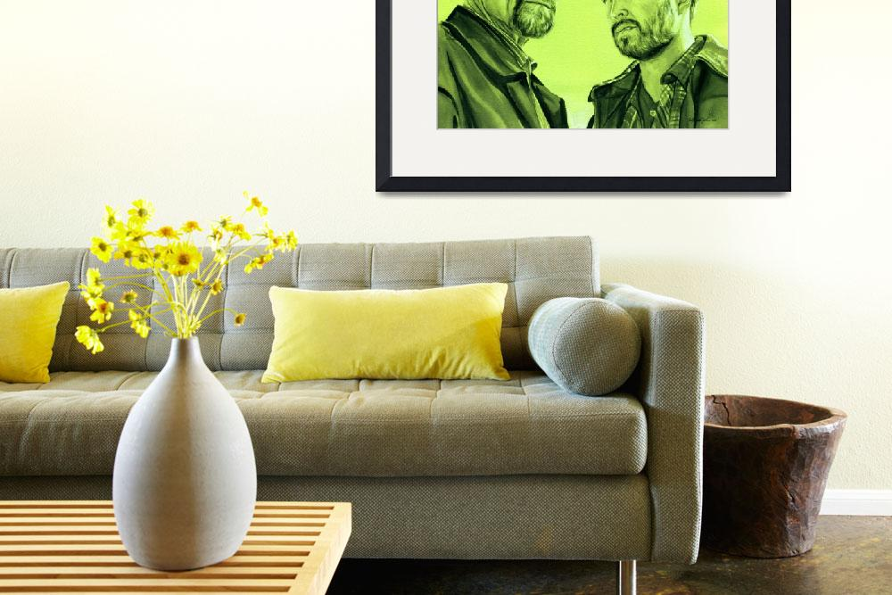 """Walter White and Jesse Pinkman (Green)&quot  (2013) by KellyEddington"