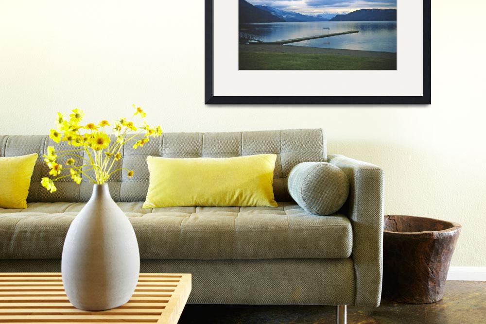 """From Harrison Hot Springs, BC, November Evening&quot  (2002) by PriscillaTurner"