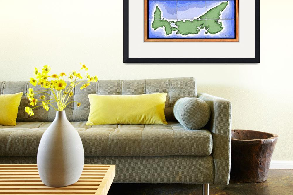 """Prince Edward Island Map&quot  (2005) by howyadoin"