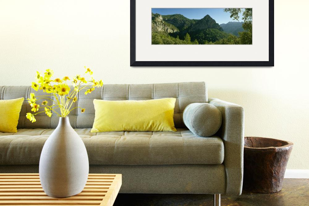 """Panoramic view of a mountain&quot  by Panoramic_Images"