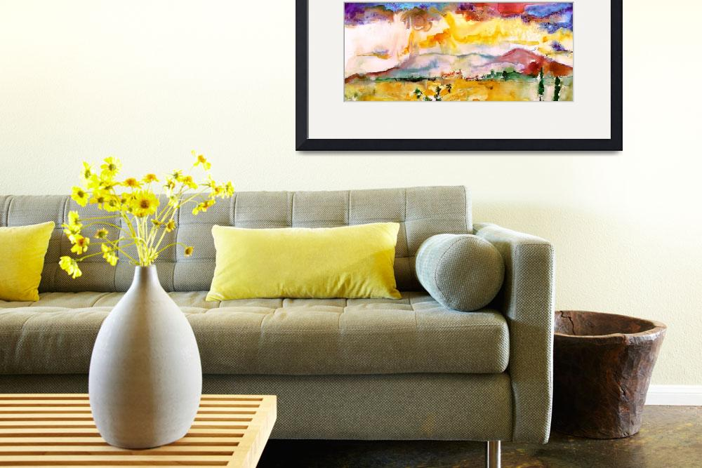 """Summer Landscape Abstract Watercolor by Ginette&quot  (2011) by GinetteCallaway"