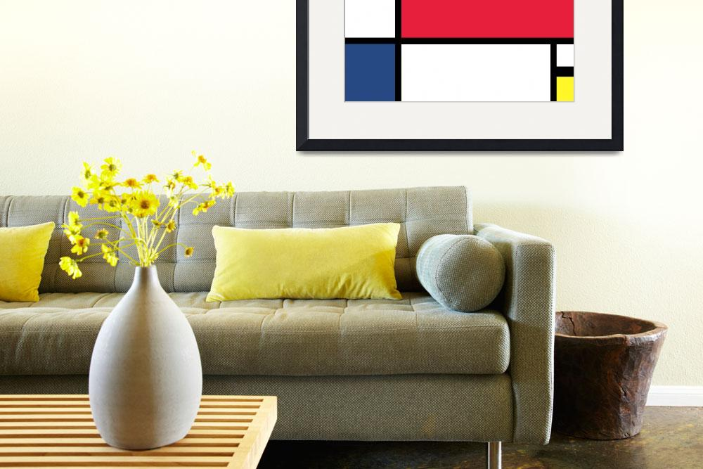 """Composition by Mondrian - Digital Version&quot  by jvorzimmer"