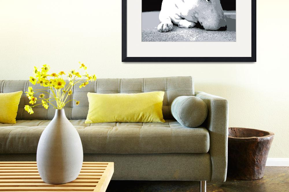 """English Bull Terrier, Pop Art Print&quot  (2008) by ModernArtPrints"