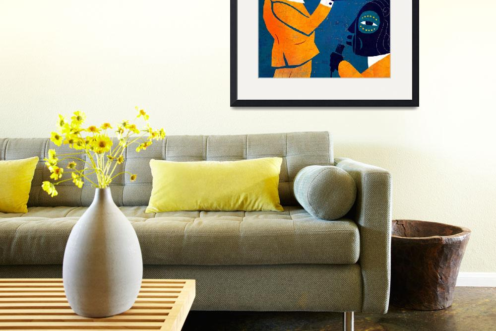 """Jazz in Blue and Yellow&quot  (2011) by BenjaminBay"
