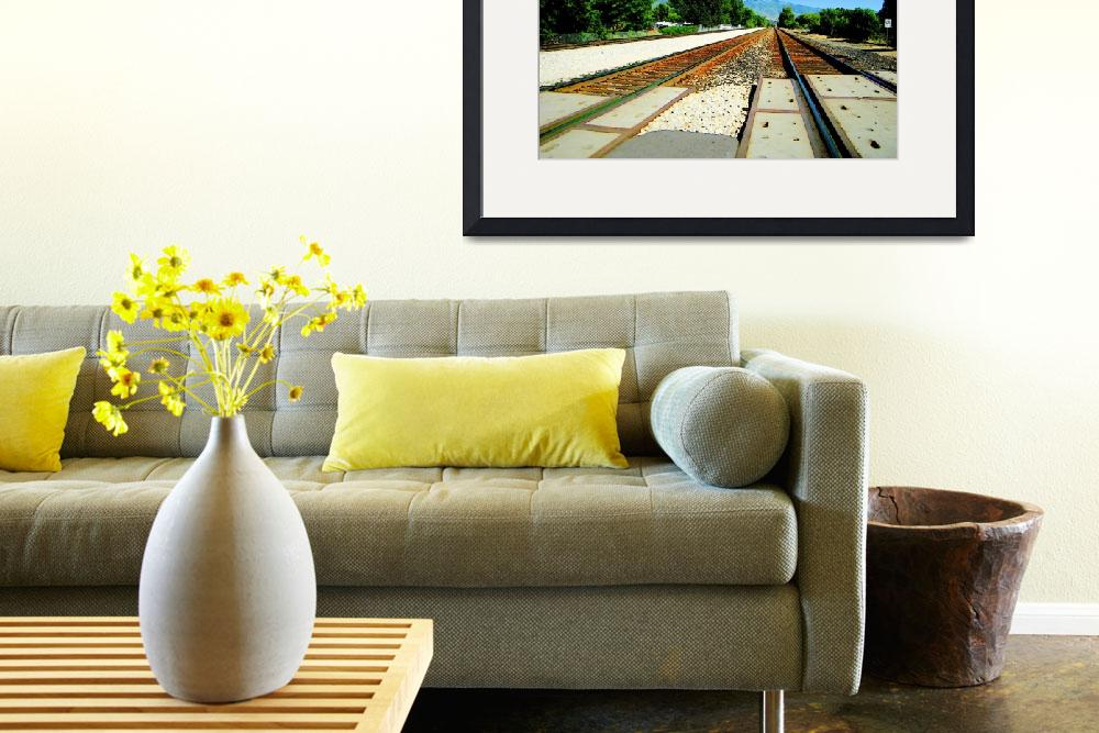 """Photo Art Greeting Card TRACKS&quot  by Triflour"