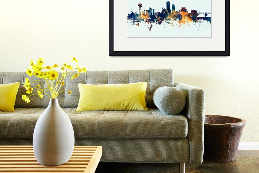 """Knoxville Tennessee Skyline&quot  (2015) by ModernArtPrints"