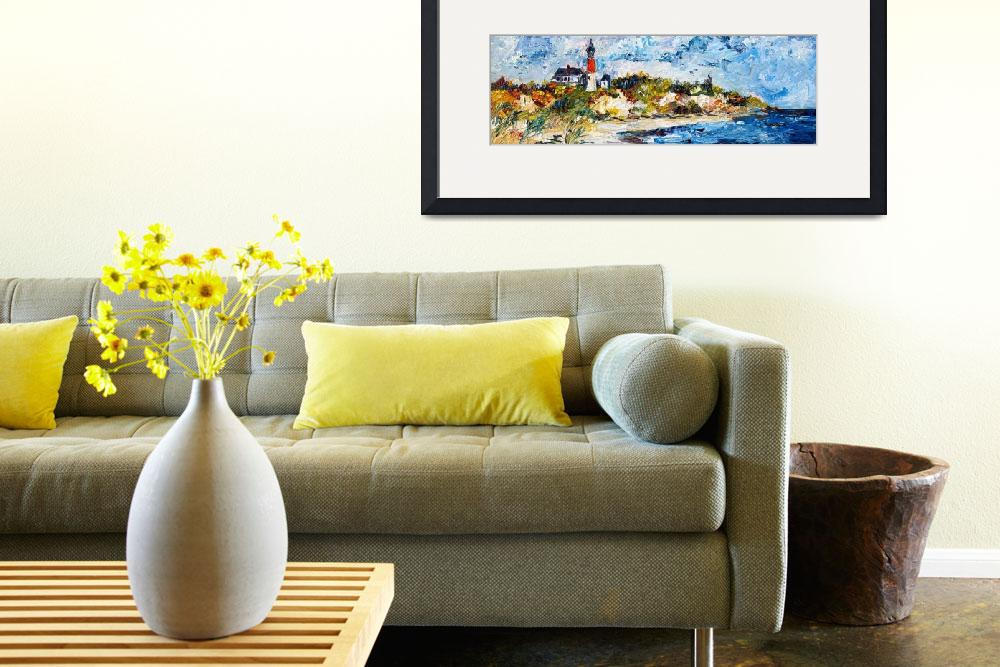 """Light House Oasis Oil Painting by Ginette Callaway&quot  (2009) by GinetteCallaway"