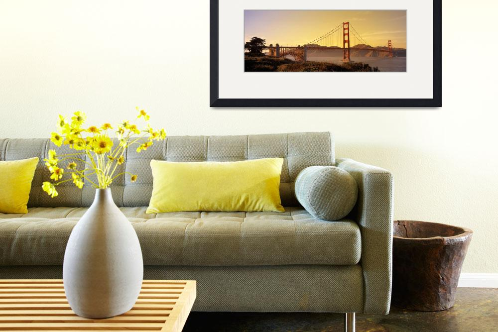 """San Francisco, Golden Gate Bridge&quot  by IK_Stores"