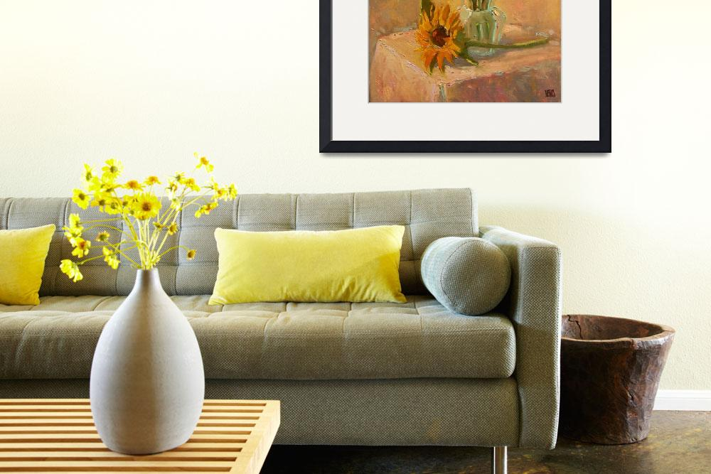 """Sunflowers in a Sunny Room&quot  (2010) by RobertLewis"