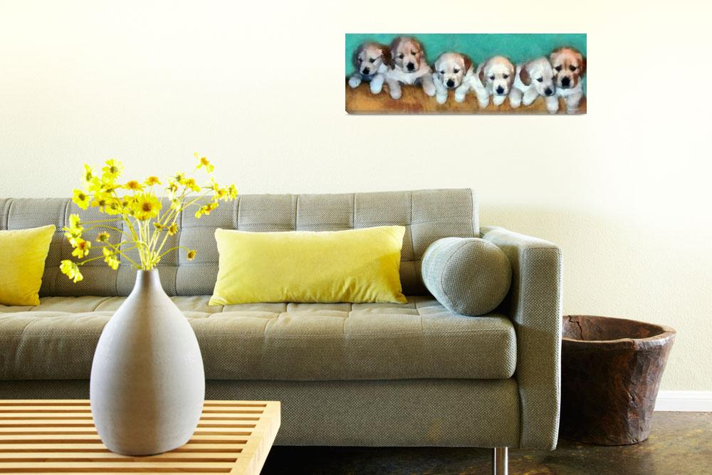 """Golden Puppies&quot  (2013) by Michelle1991"