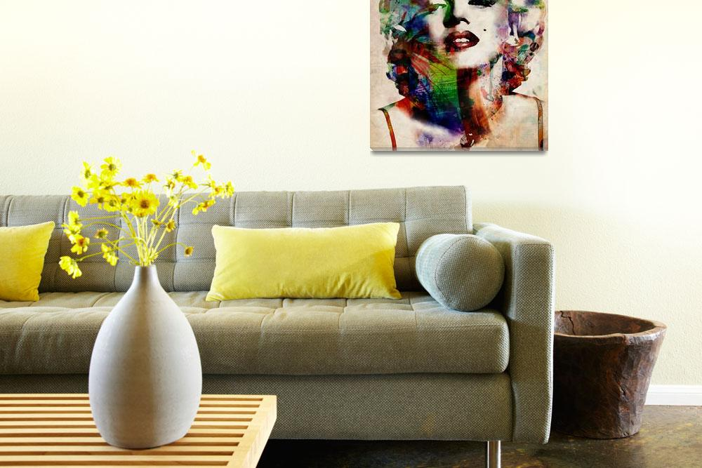 """Marylin Urban Watercolor&quot  (2009) by ModernArtPrints"