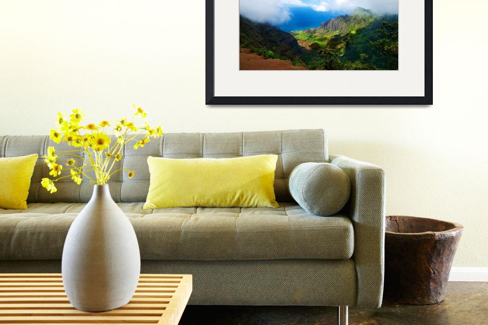 """Kalalau Valley Vista&quot  (2010) by PadgettGallery"