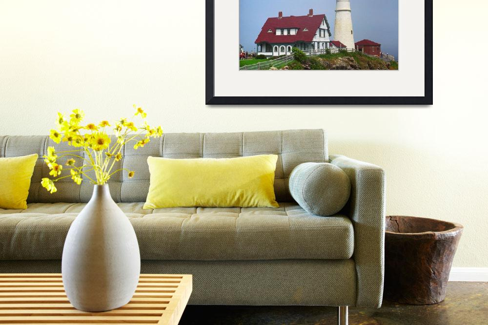 """Lighthouse - Portland Head, Maine&quot  (2004) by Ffooter"