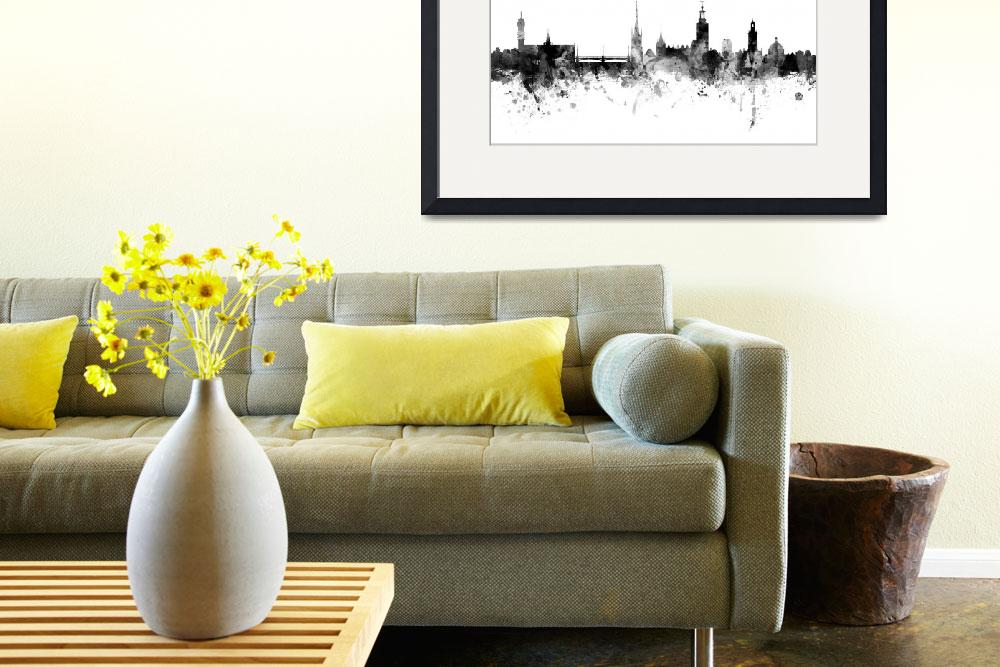 """Stockholm Sweden Skyline&quot  (2015) by ModernArtPrints"