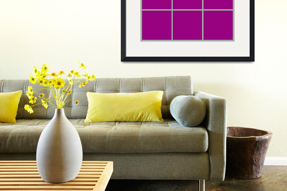 """Violet Window 187 Canvas Contemporary Modern&quot  (2010) by Ricardos"