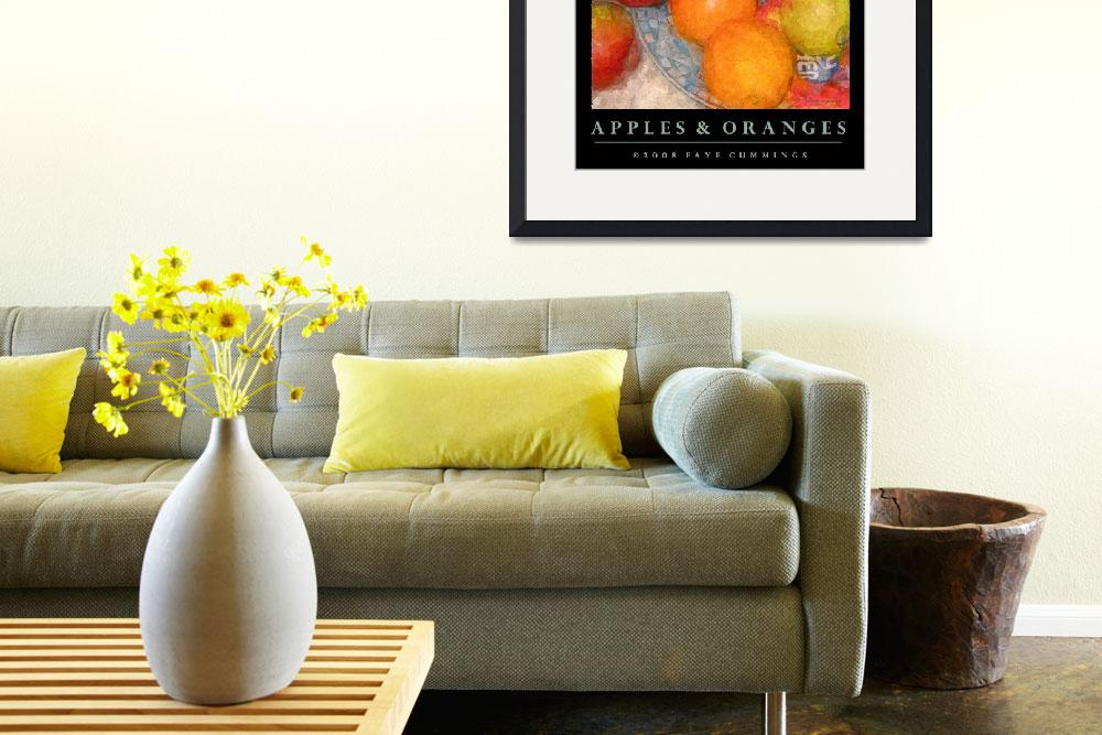 """Apples & Oranges (on Black)&quot  by artistfaye"
