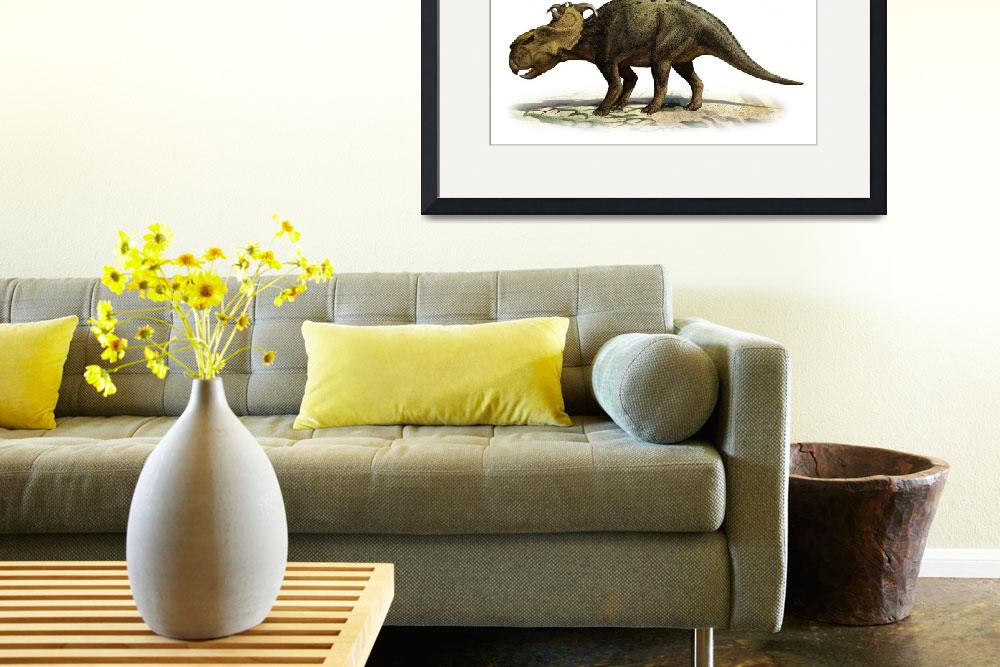 """Pachyrhinosaurus canadensis, a prehistoric era din&quot  by stocktrekimages"