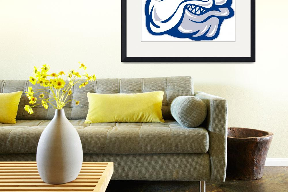 """bulldog head facing side&quot  (2013) by patrimonio"