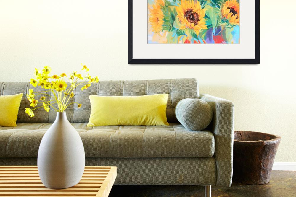 """Stunning Sunflowers Oil Painting&quot  (2010) by Ezartesa"