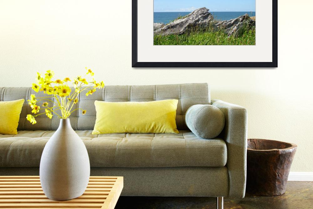 """Driftwood Ocean Coastal Art prints Seascape Landsc&quot  (2014) by BasleeTroutman"