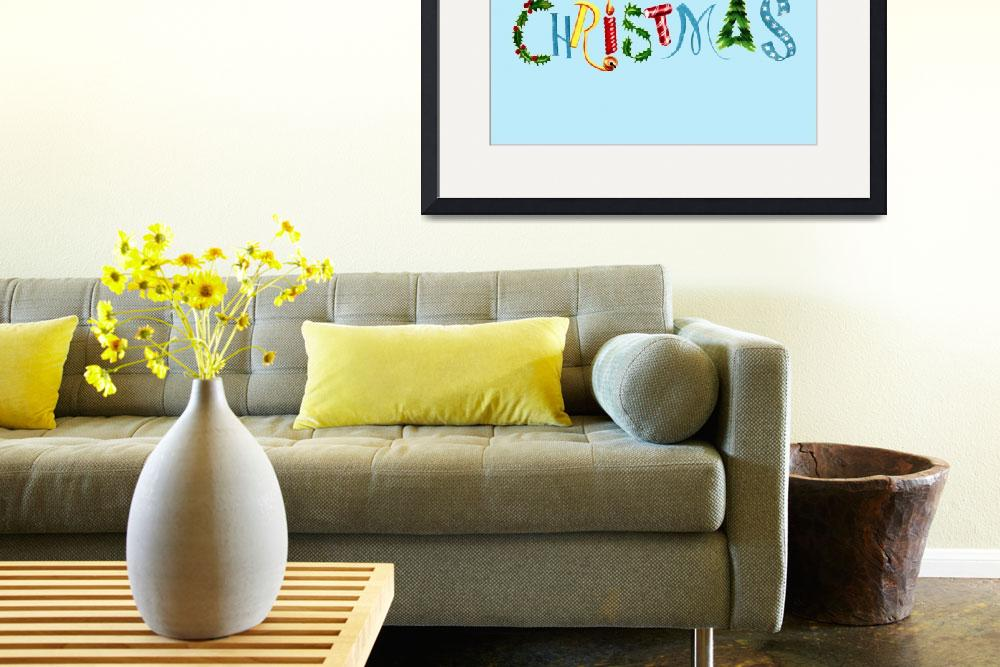"""Merry Christmas collage font&quot  by WrightCardandGift"