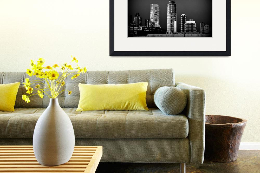 """Austin City Skyline&quot  (2013) by artographic66"