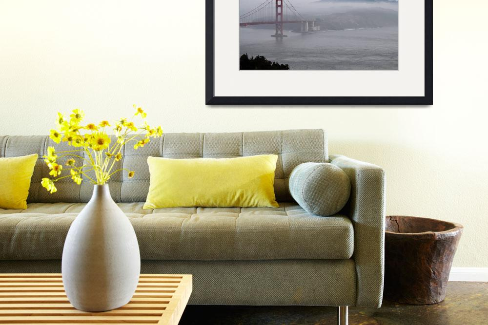 """Golden Gate Bridge Fog&quot  (2010) by Sonja"