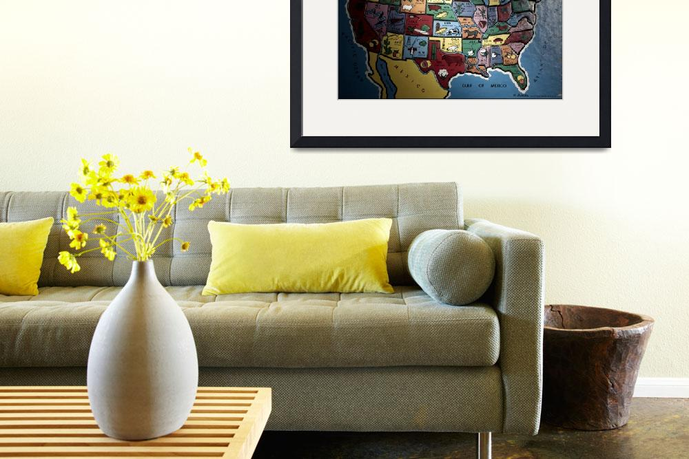 """united states map puzzle&quot  (2002) by atlasphotographic"