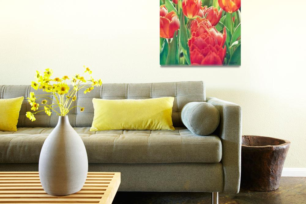 """Chorus of the Tulips&quot  (2011) by denisejhowardart"