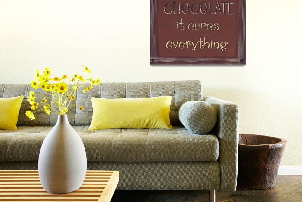 """Chocolate Sign (Redish Brown)&quot  (2013) by PjCreates"