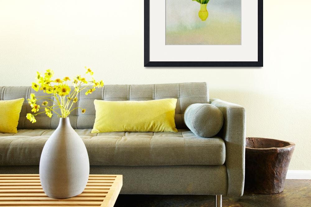 """spring flowers with yellow vase&quot  (2012) by eydiHB"