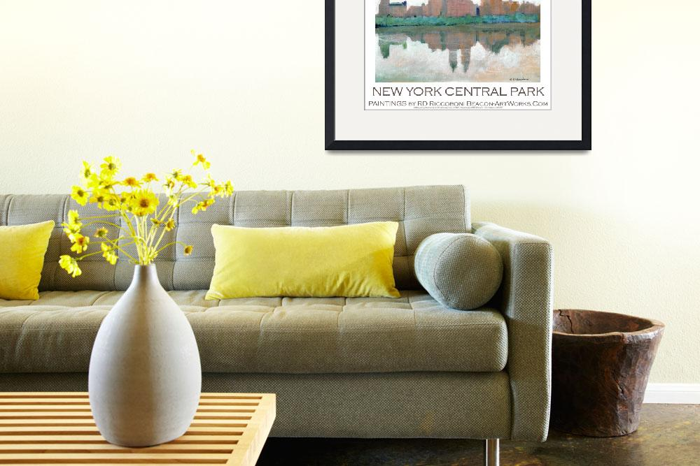 """New York Central Park poster by Riccoboni&quot  (2009) by BeaconArtWorksCorporation"