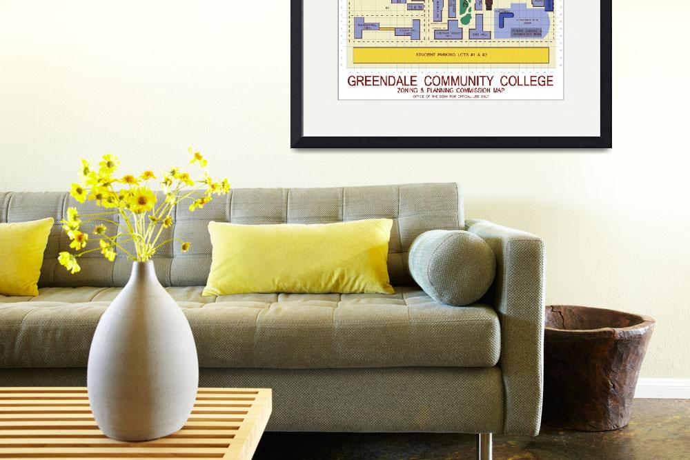 """Greendale Community College Map&quot  (2012) by originaldave77"