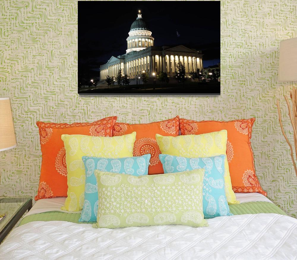 """Utah Capitol Building at Night&quot  (2010) by ultimateplaces"