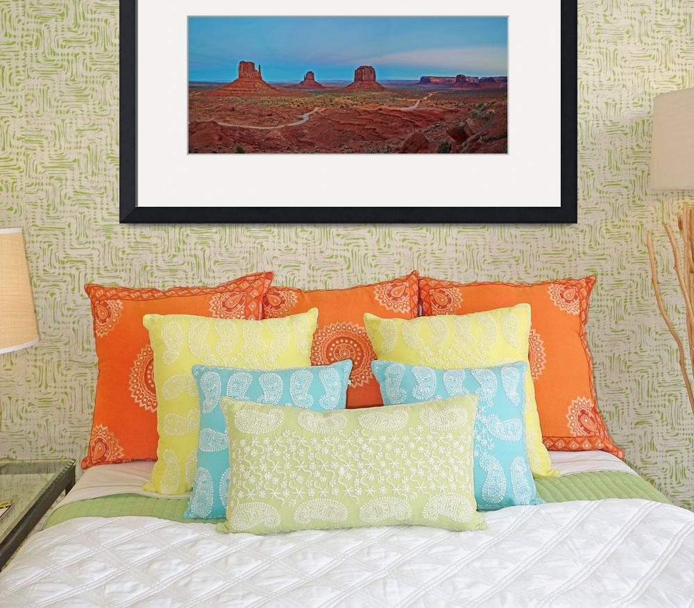"""Monument Valley Panorama&quot  (2012) by GregStringham"