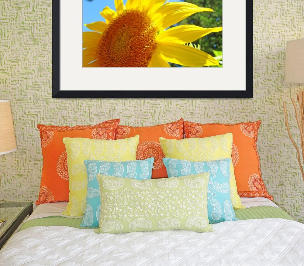 """Sunflower Yellow Bright Sunny Sun Flower Art Print&quot  (2009) by BasleeTroutman"