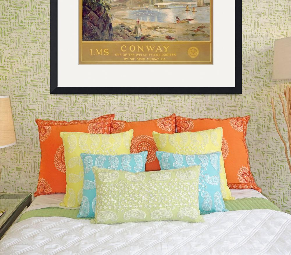 """Conway Castle, poster advertising the London, Midl&quot  by fineartmasters"