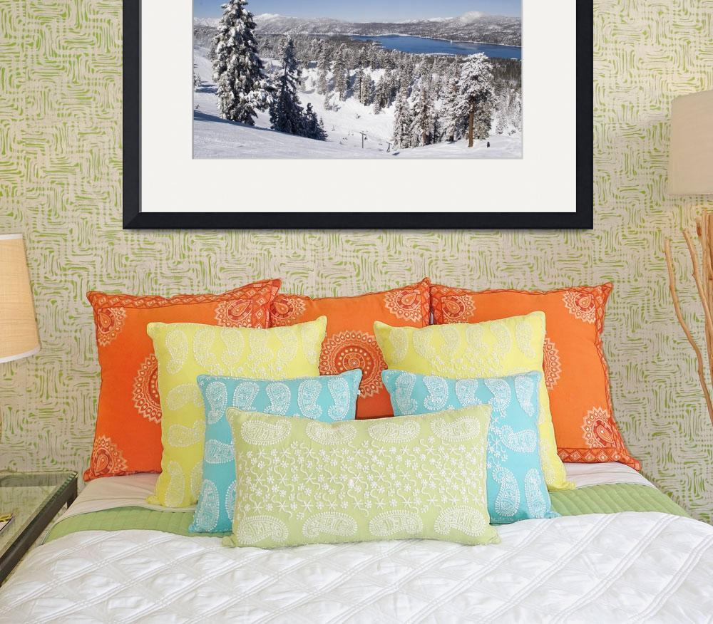 """Snow Summit in Big Bear Lake, CA&quot  (2009) by KerstPhoto"