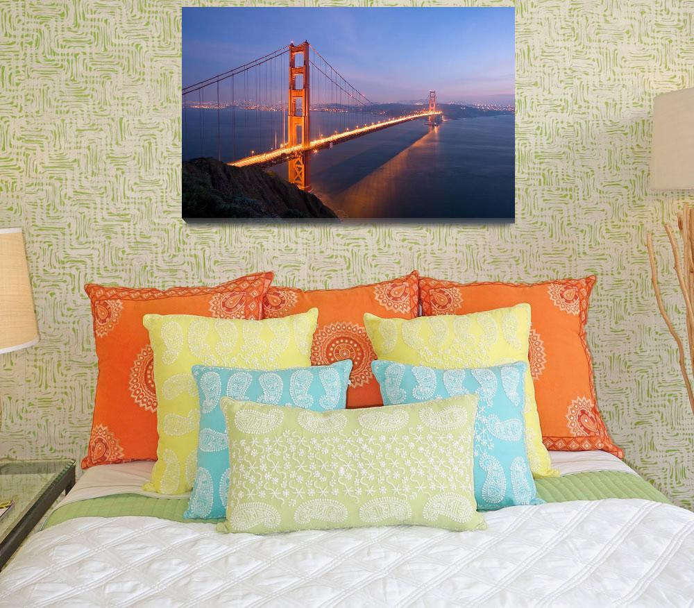 """Golden Gate Bridge at Night&quot  (2006) by kreicher"