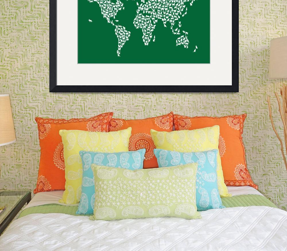 """Cats Map of the World Map&quot  (2017) by ModernArtPrints"