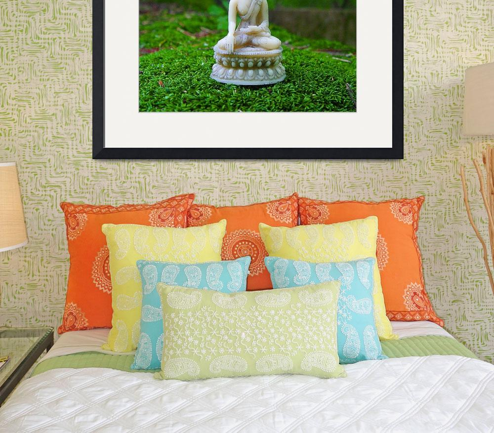 """buddha in green moss&quot  (2007) by artocular"