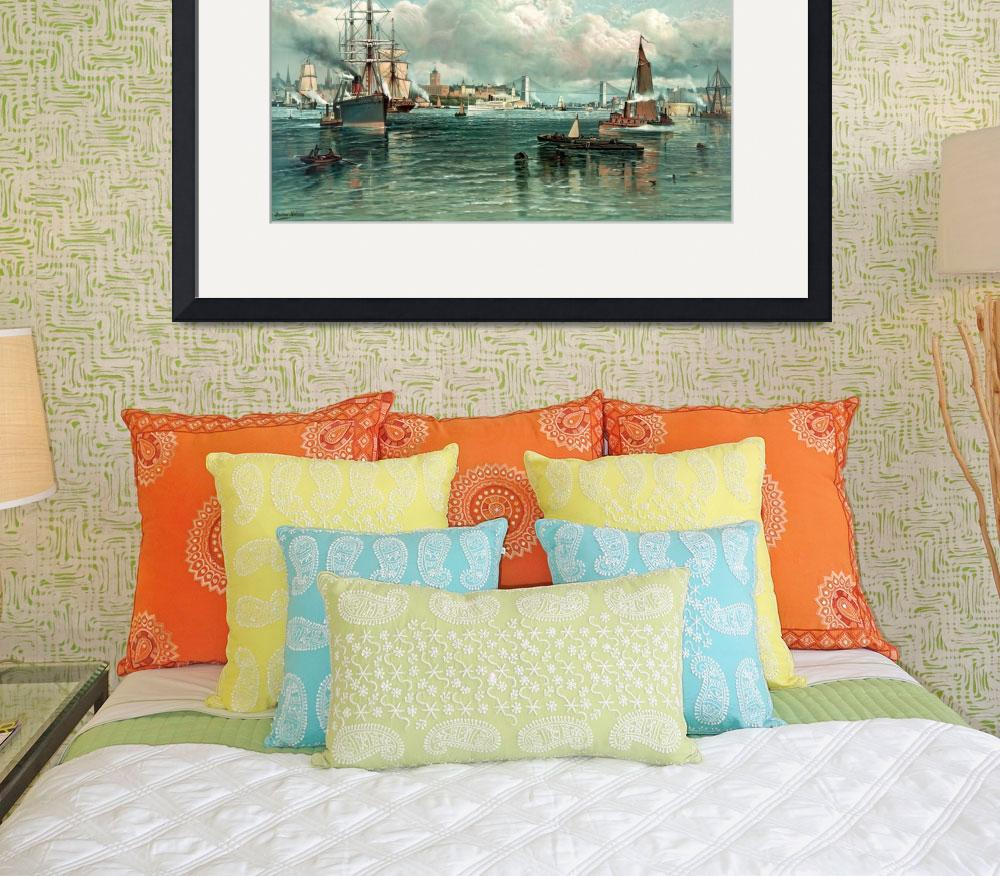 """NEW YORK HARBOR&quot  by homegear"