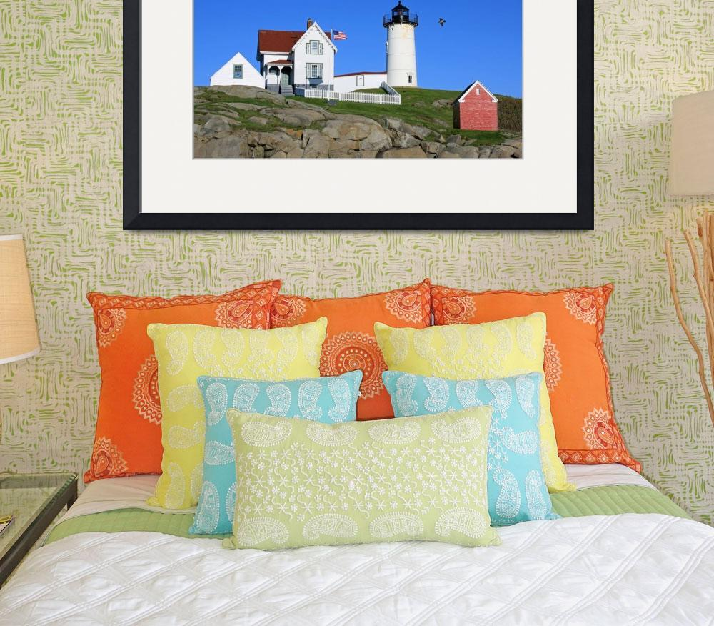 """Nubble Lighthouse 2&quot  (2010) by Lorraine_Sommer"