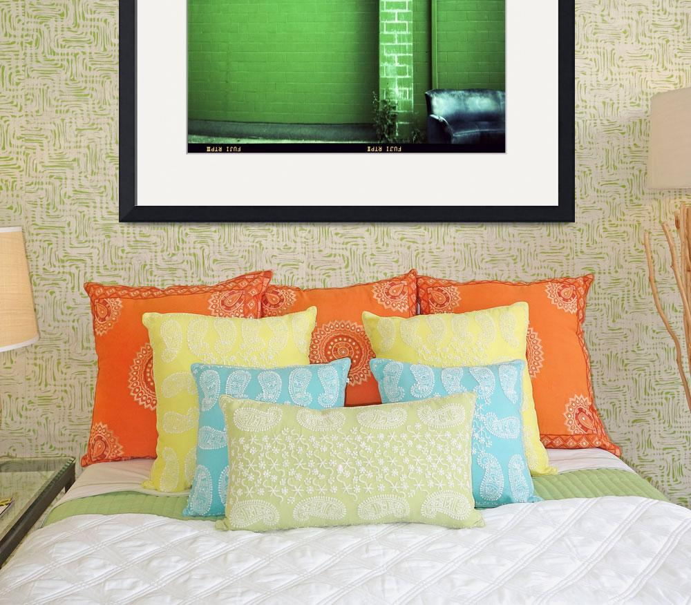 """Blue Couch Green Wall&quot  (2007) by mylatehope"