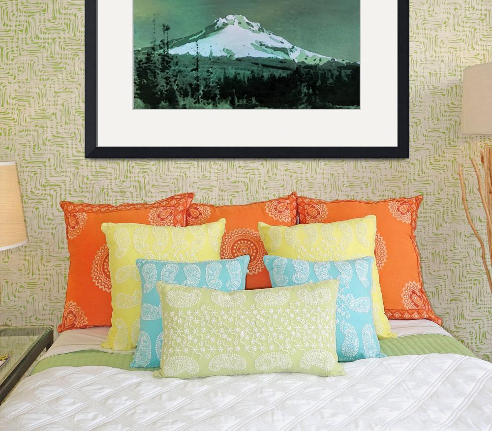 """Mount Hood - ID 16217-202803-3885&quot  by lurksart"